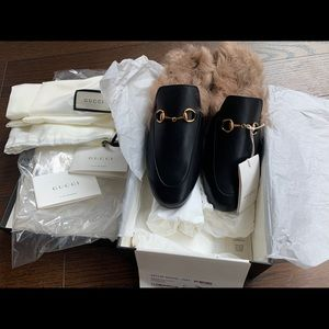 Gucci princetown leather slipper size 41